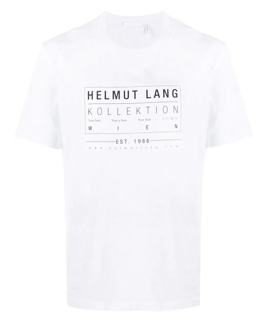 Image for HELMUT LANG MEN'S J04HM513100 WHITE COTTON T-SHIRT