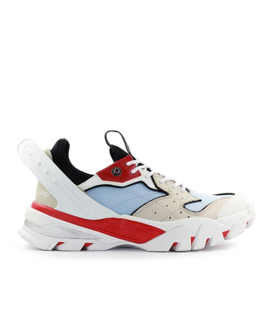 Image for CALVIN KLEIN JEANS MEN'S B4S0666050 MULTICOLOR Fabric SNEAKERS