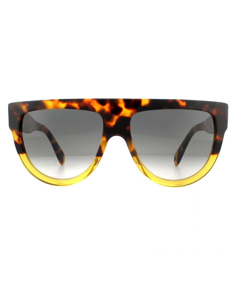 Image for Celine Sunglasses CL40001I 55B Havana Smoke Gradient