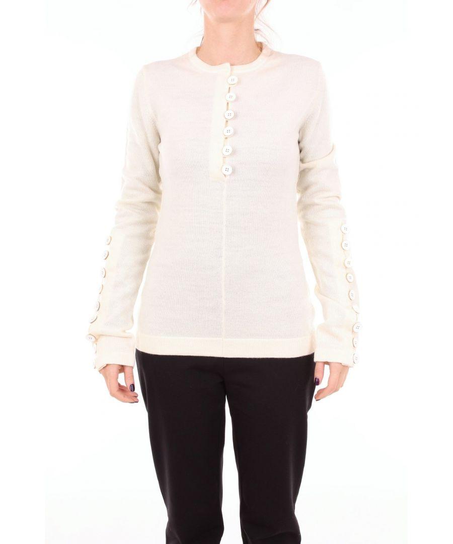 Image for JIL SANDER WOMEN'S JSPN754054WNY20018PANNA WHITE WOOL JUMPER