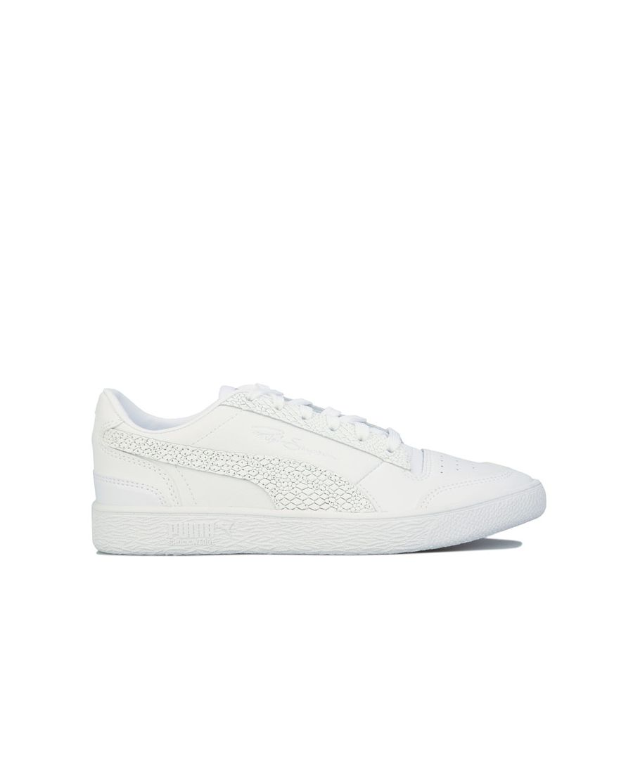 Image for Women's Puma Ralph Sampson Lo Snake Trainers in White silver