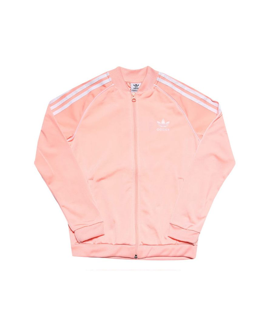 Image for Girl's adidas Originals Junior SST Track Top Coral 13-14in Coral