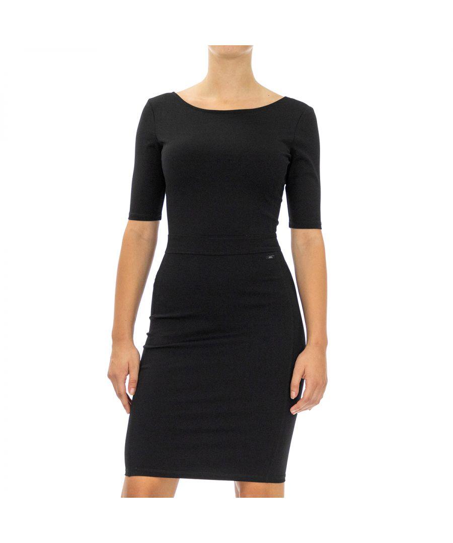 Image for Armani Exchange Women Dress   Half sleeve Black