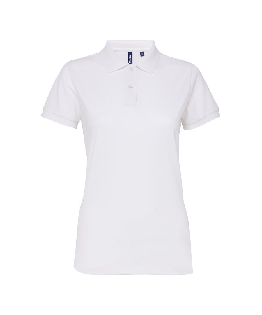 Image for Asquith & Fox Womens/Ladies Short Sleeve Performance Blend Polo Shirt (White)