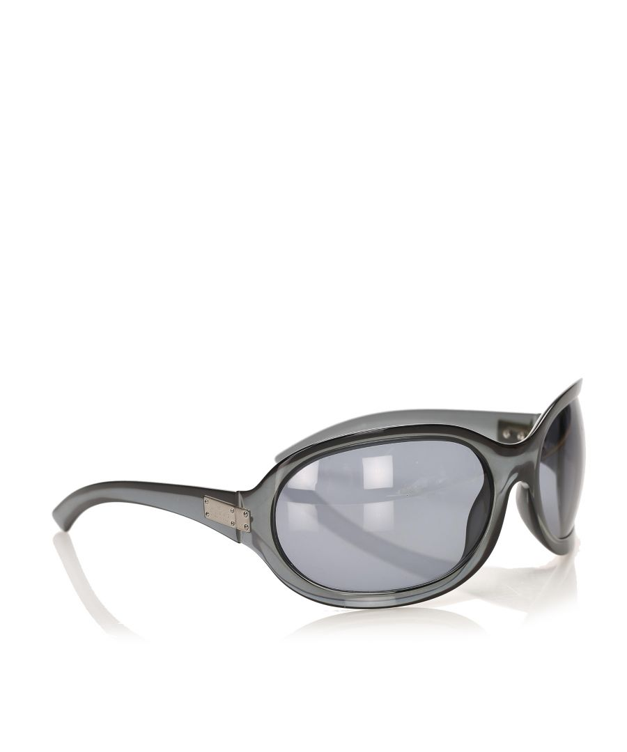 Image for Vintage Gucci Round Tinted Sunglasses Black