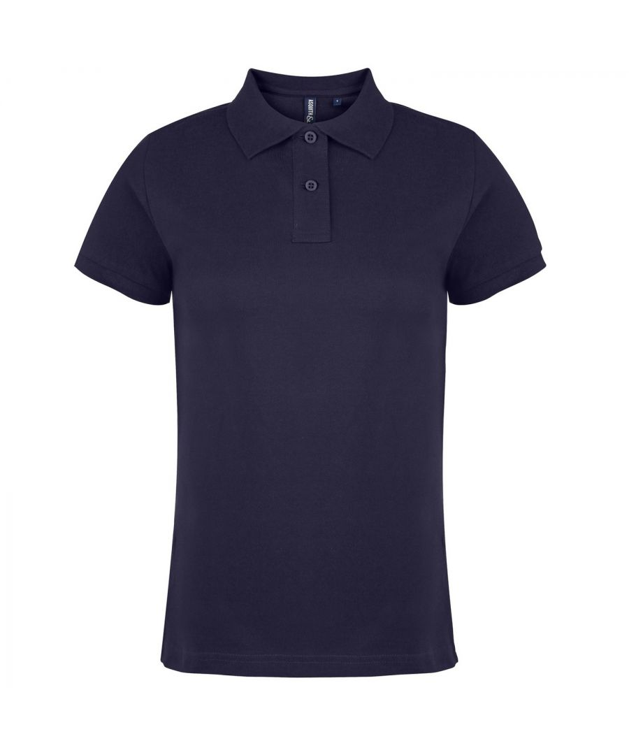 Image for Asquith & Fox Womens/Ladies Plain Short Sleeve Polo Shirt (Navy)