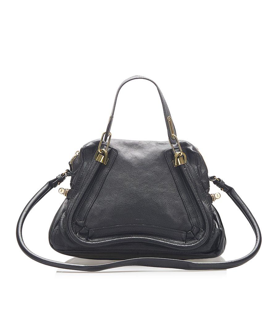 Image for Vintage Chloe Paraty Leather Satchel Black