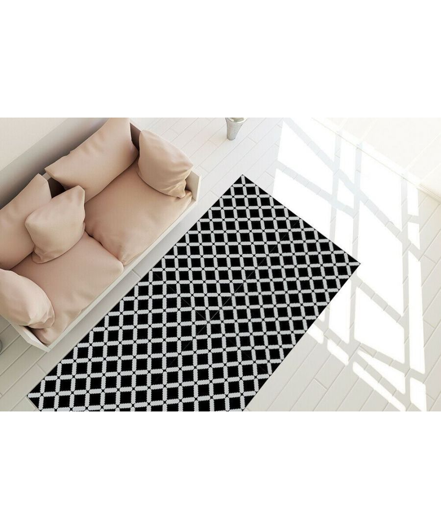 Image for WFM6124 - Modern Geometric Stencil Pattern Rug Mat 120cm x 60 cm