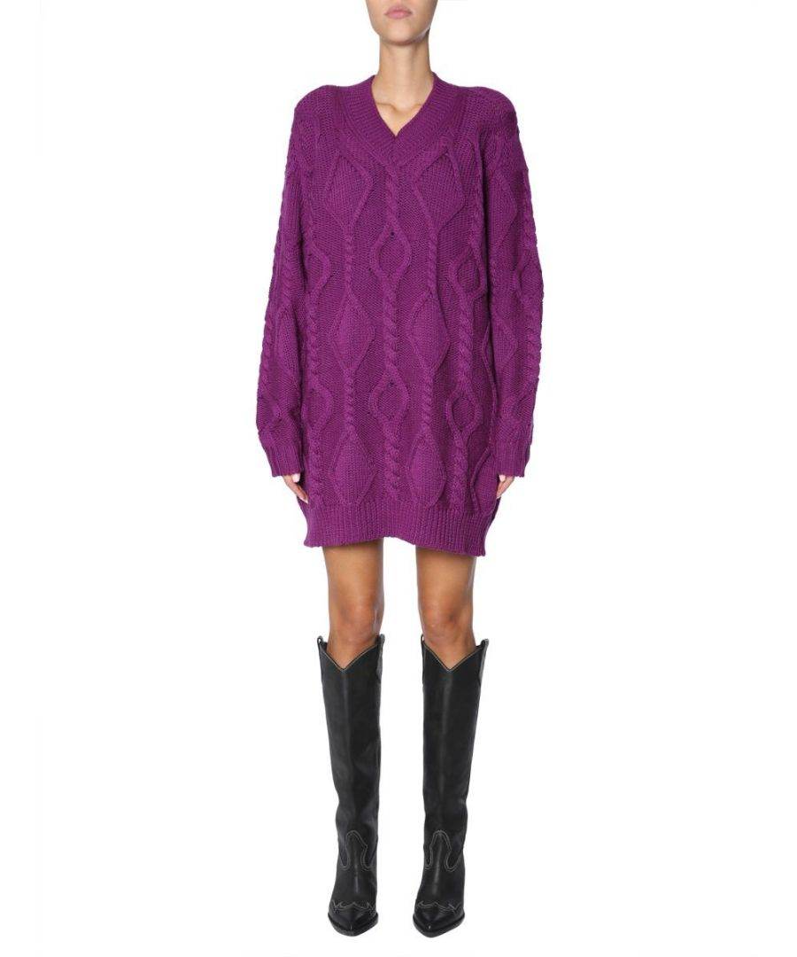 Image for ISABEL MARANT WOMEN'S PU080418H044I86 PURPLE WOOL SWEATER