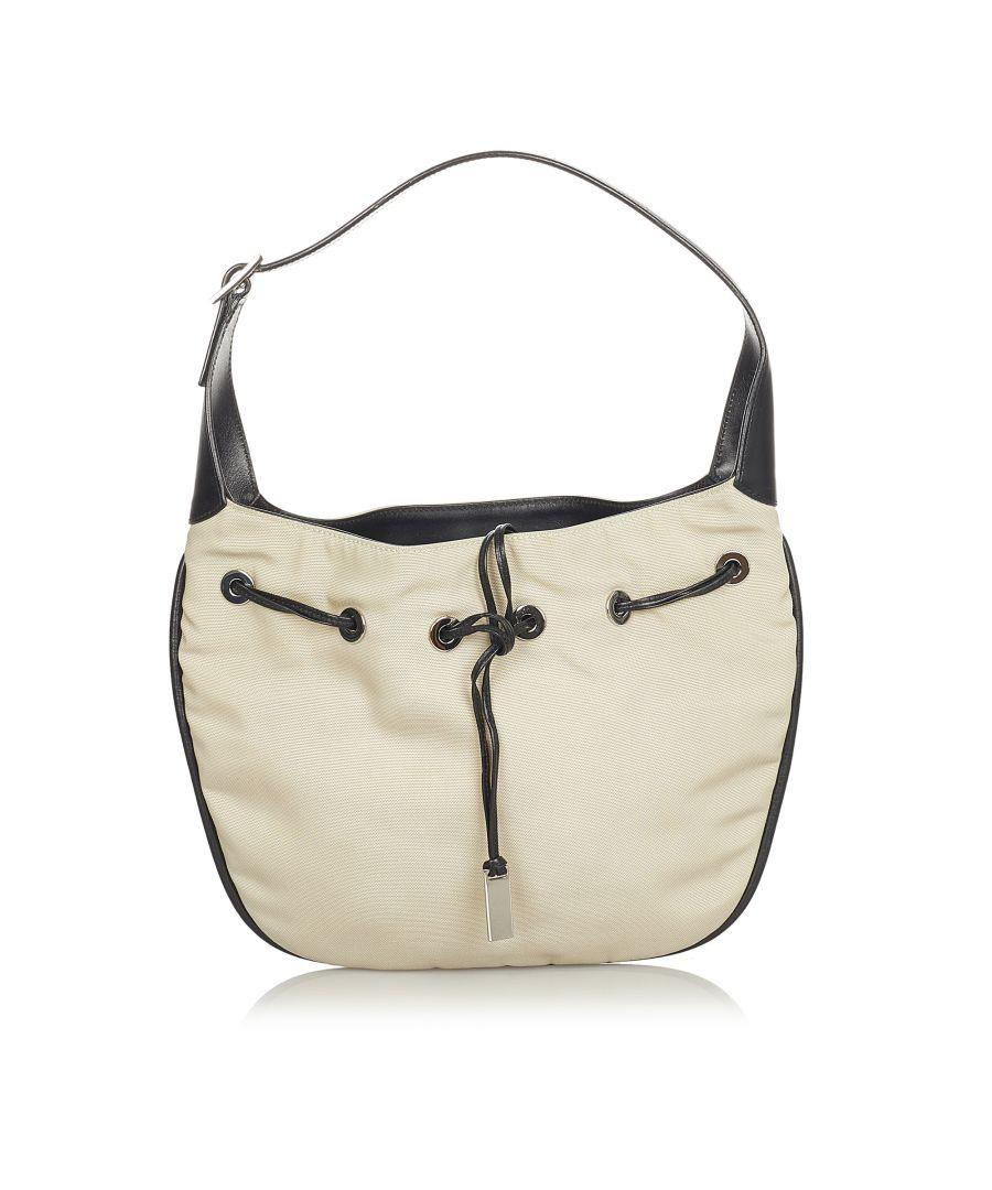 Image for Vintage Gucci Nylon Drawstring Shoulder Bag Brown