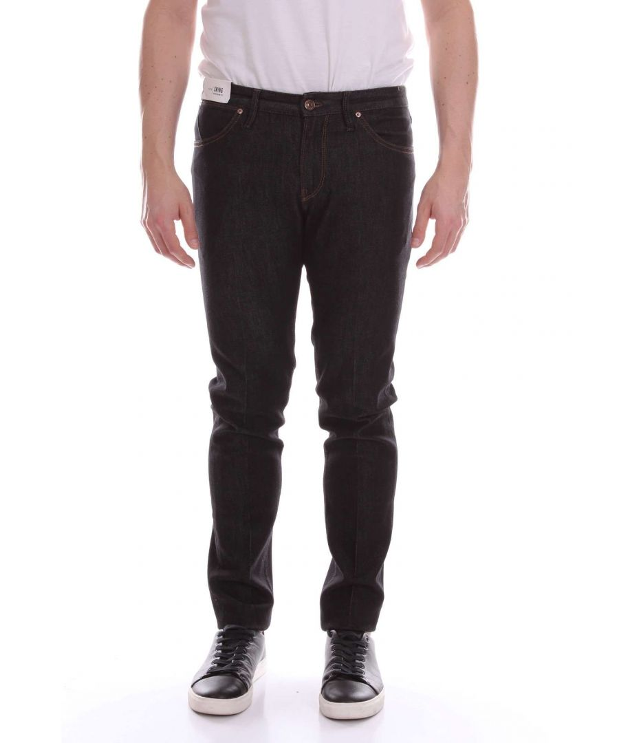 Image for PT01 MEN'S TX12DJ05Z30MINNERO BLACK COTTON JEANS