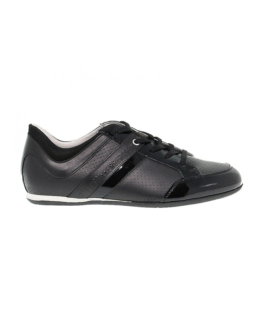 Image for BIKKEMBERGS MEN'S BKE107831 BLACK LEATHER SNEAKERS