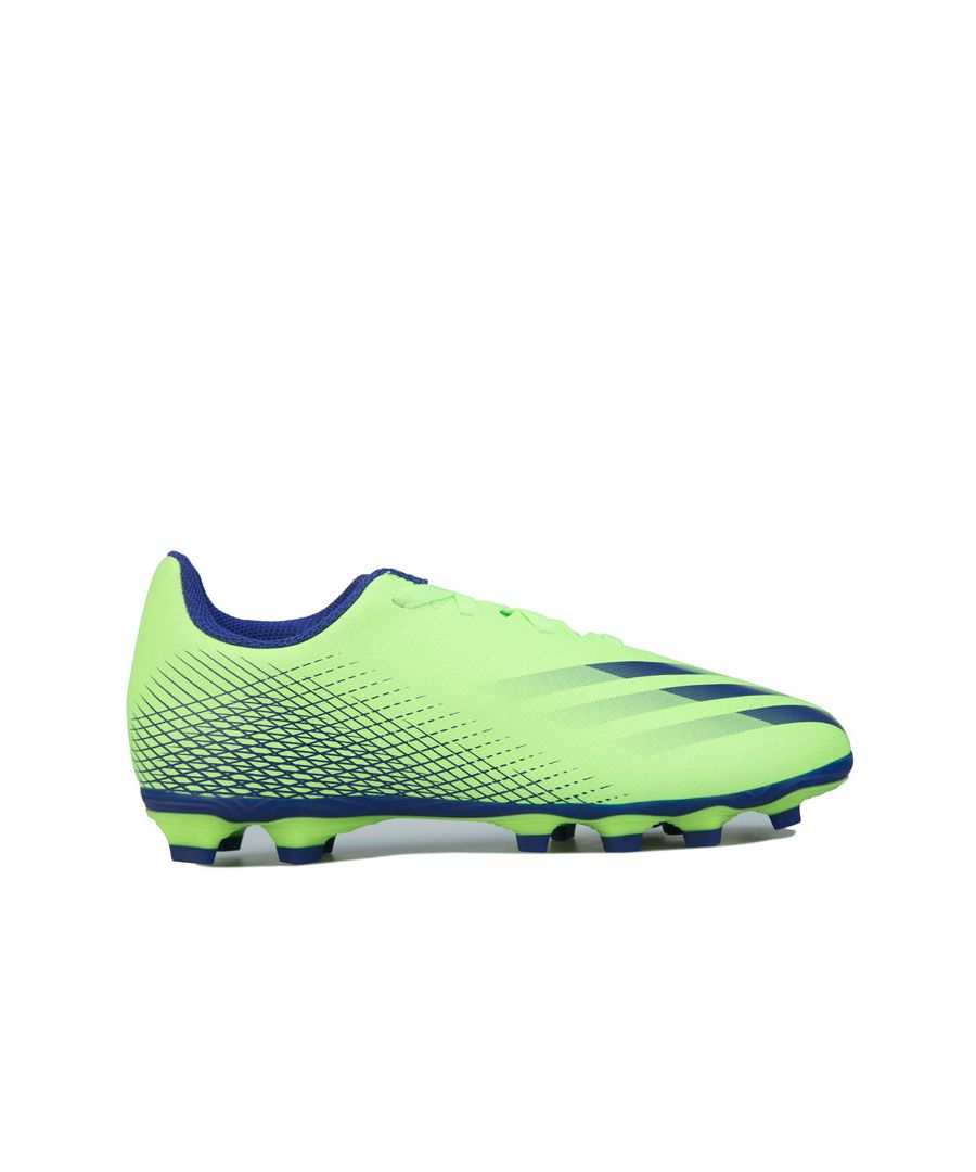 Image for Boy's adidas Junior X GHOSTED.4 FxG Football Boots in Green blue