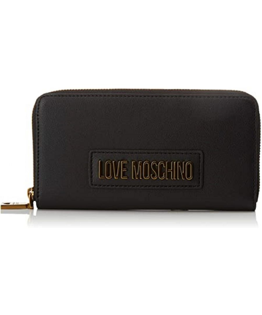 Image for Love Moschino Zip Around Basic Purse in Black