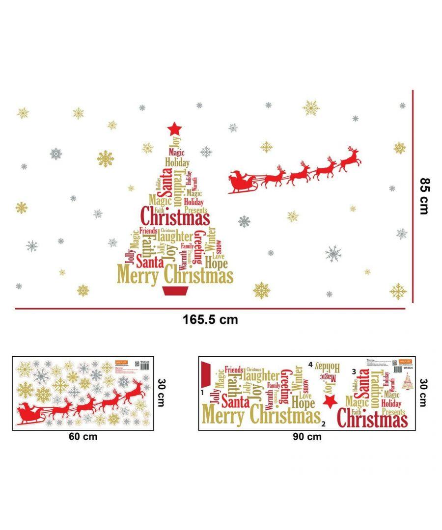 Image for WFXC6306 - COM - WS4026 + WS3323 - English Quotes Santa's sleigh Christmas Tree