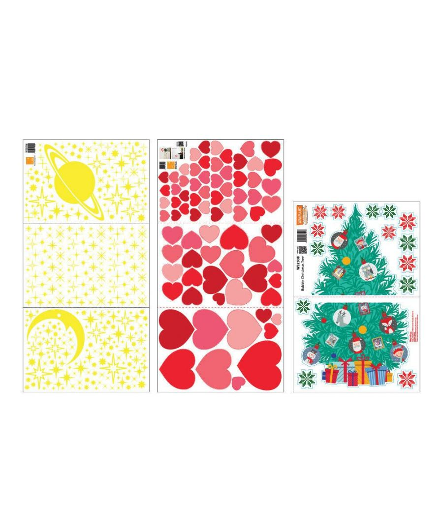 Image for C3W0007 - Glow Stars and Hearts with Christmas Friend Tree - WS3036 + WS3042 + WS2308