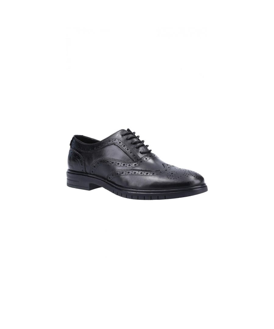 Image for Hush Puppies Mens Santiago Leather Brogues (Black)