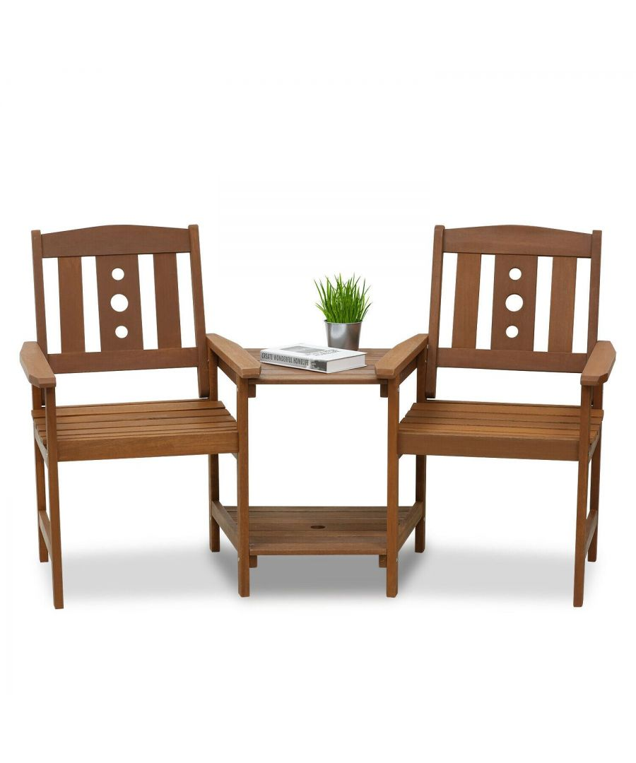 Image for Furinno Tioman Outdoor Hardwood Jack & Jill Chair Set