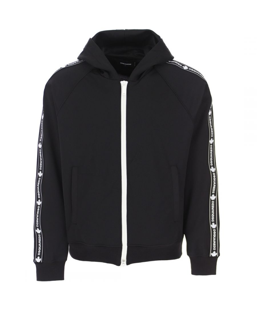 Image for Dsquared2 Cool Fit Arm Logo Black Zip Hoodie