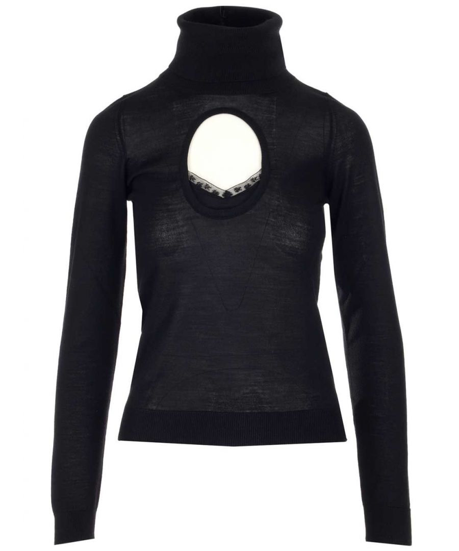 Image for N°21 WOMEN'S A00470089000 BLACK COTTON JUMPER