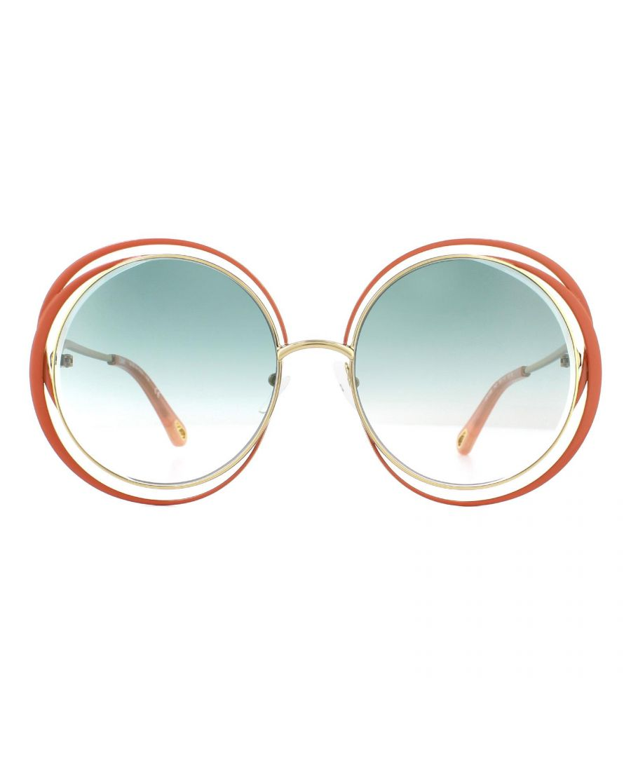 Image for Chloe Sunglasses CE155S 743 Gold Brown Blue Gradient
