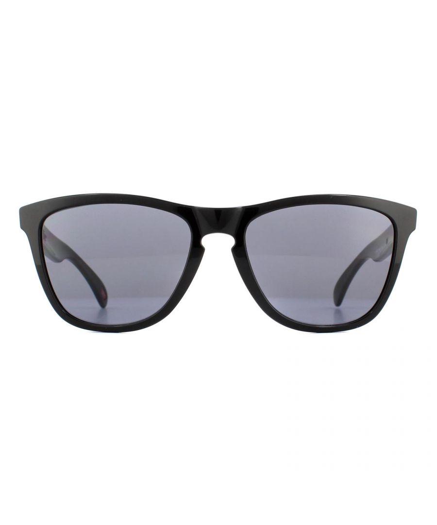 Image for Oakley Sunglasses Frogskins Polished Black Grey 24-306