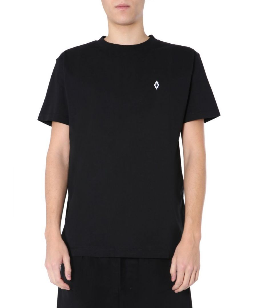 Image for MARCELO BURLON MEN'S CMAA018S20JER0051025 BLACK COTTON T-SHIRT