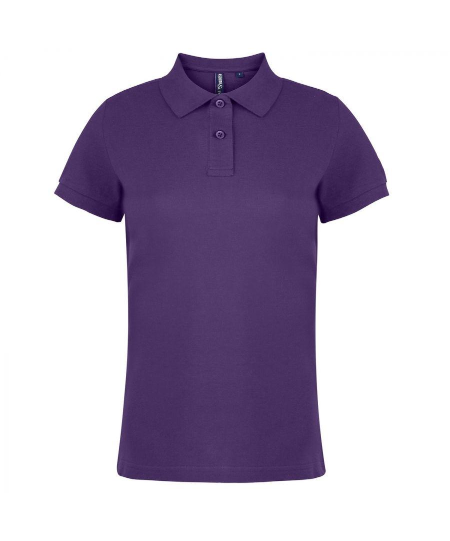 Image for Asquith & Fox Womens/Ladies Plain Short Sleeve Polo Shirt (Purple)