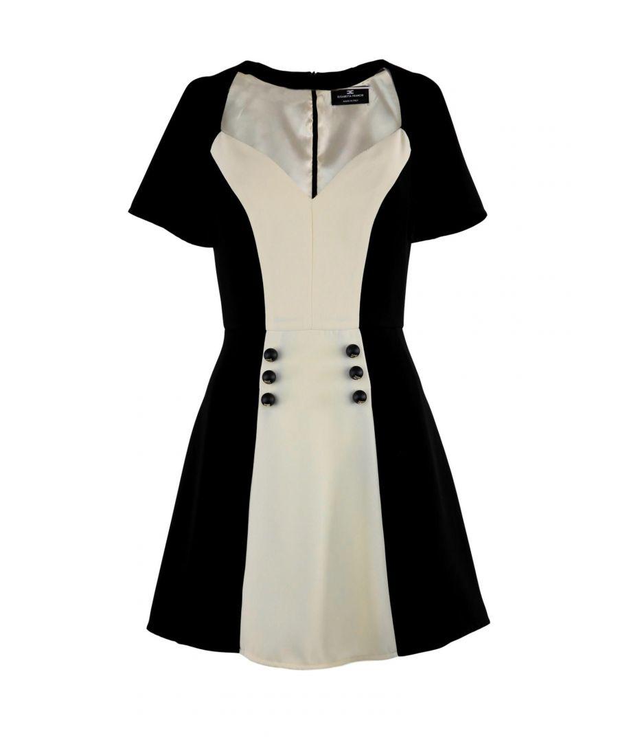 Image for ELISABETTA FRANCHI WOMEN'S IAB67791E2685 BLACK POLYESTER DRESS