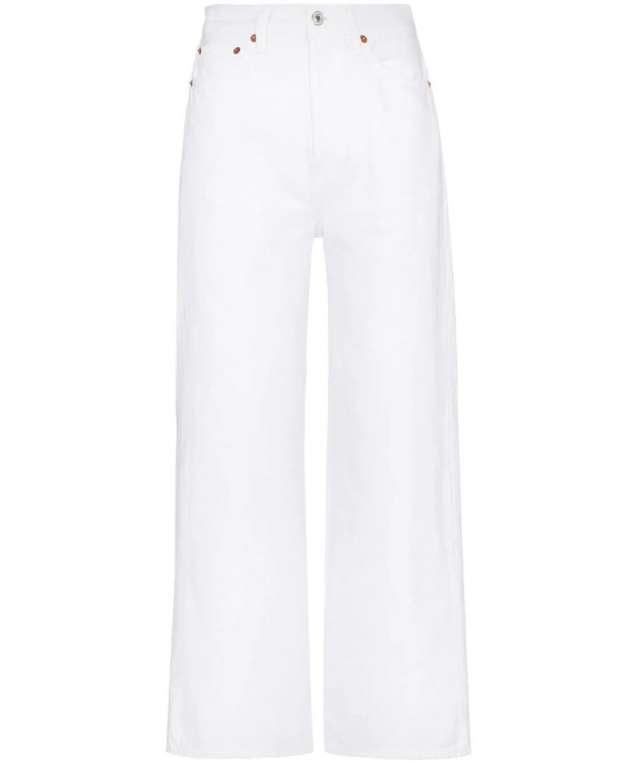 Image for RE/DONE WOMEN'S 1843WHREXWLWHITE WHITE COTTON JEANS
