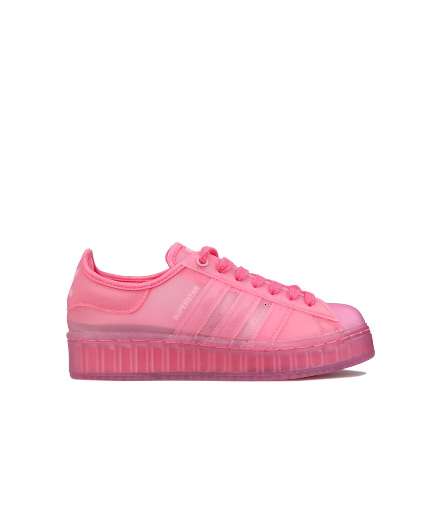 Image for Women's adidas Superstar Jelly Trainers in Pink in Pink