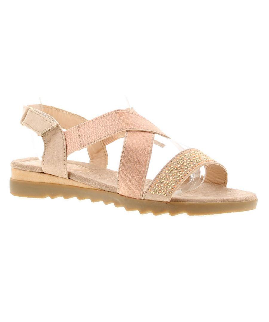 Image for Ladies Elastic/Micfrofibre Sandal On Tpr Sole