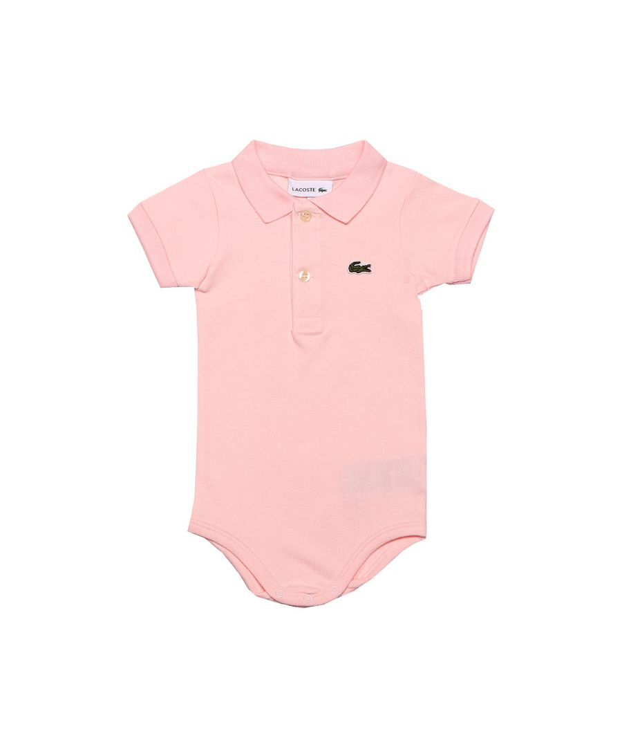Image for Girl's Lacoste Organic Baby Grow with Presentation Box in Pink