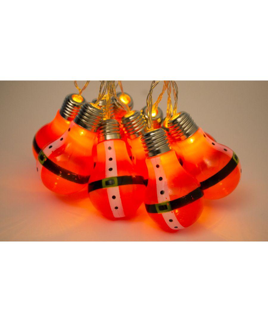 Image for 10 LED Santa Bulb String Lights