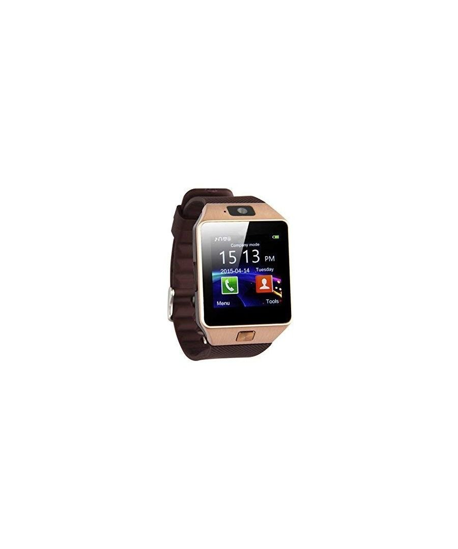 Image for LKS Smartwatch Dz09 Multi-function BT, Front Camera, Slot For Sim Card And Microsd gold