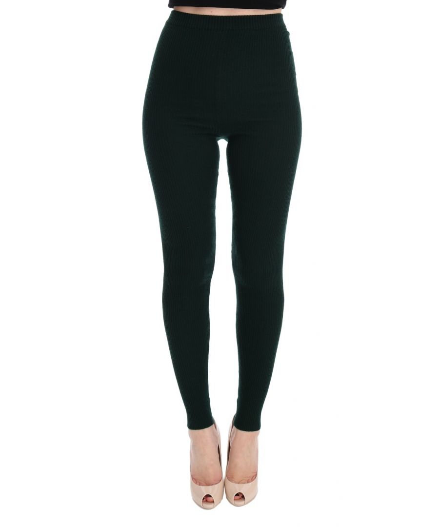 Image for Dolce & Gabbana Green Wool Stretch Tights
