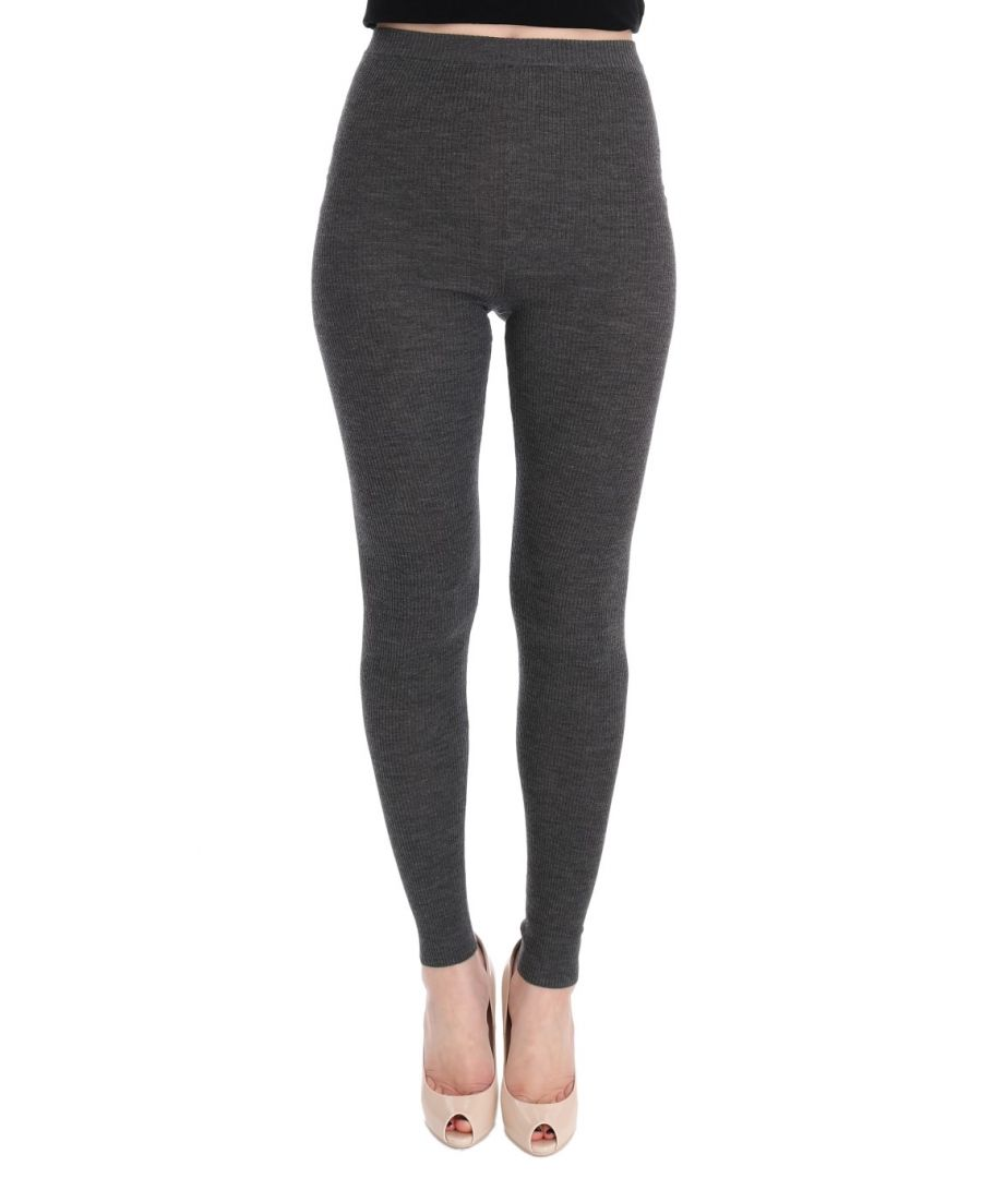 Image for Dolce & Gabbana Gray Wool Stretch Tights