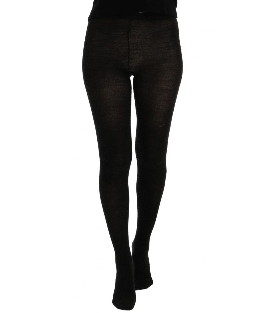 Image for Dolce & Gabbana Gray Wool Blend Stretch Tights