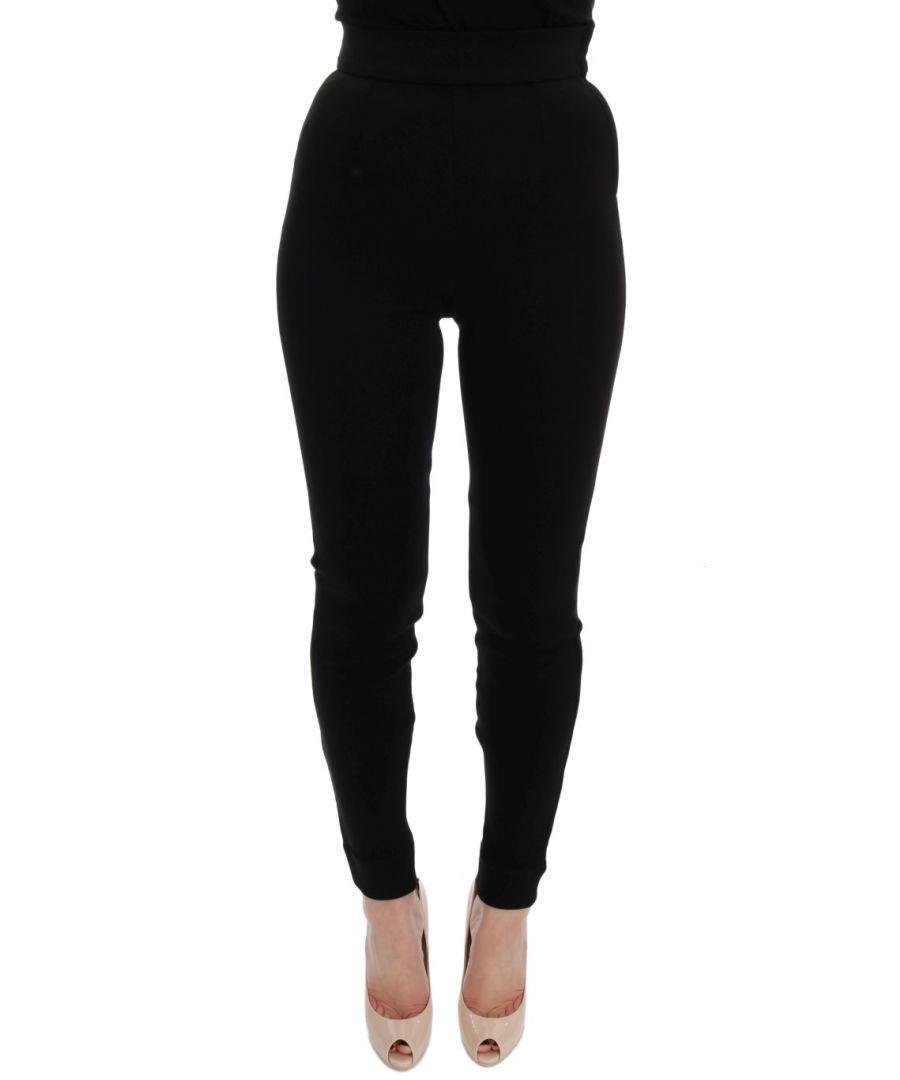 Image for Dolce & Gabbana Black High Waist Stretch Tights