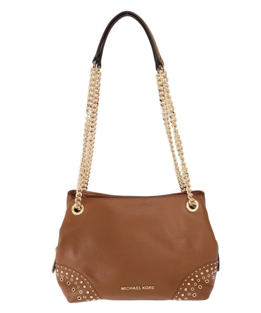 Image for Michael Kors Brown Jet Set Leather Shoulder Bag