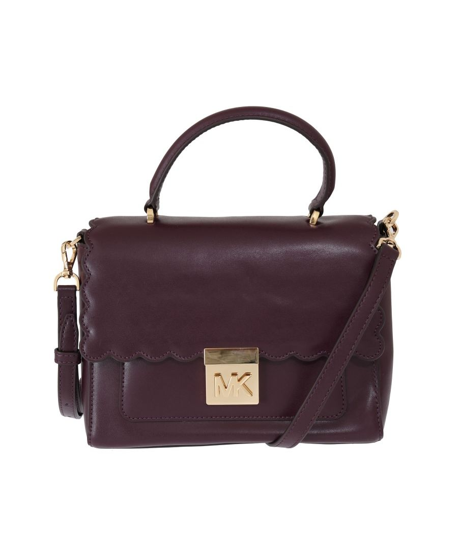 Image for Michael Kors Purple MINDY Satchel Crossbody Bag