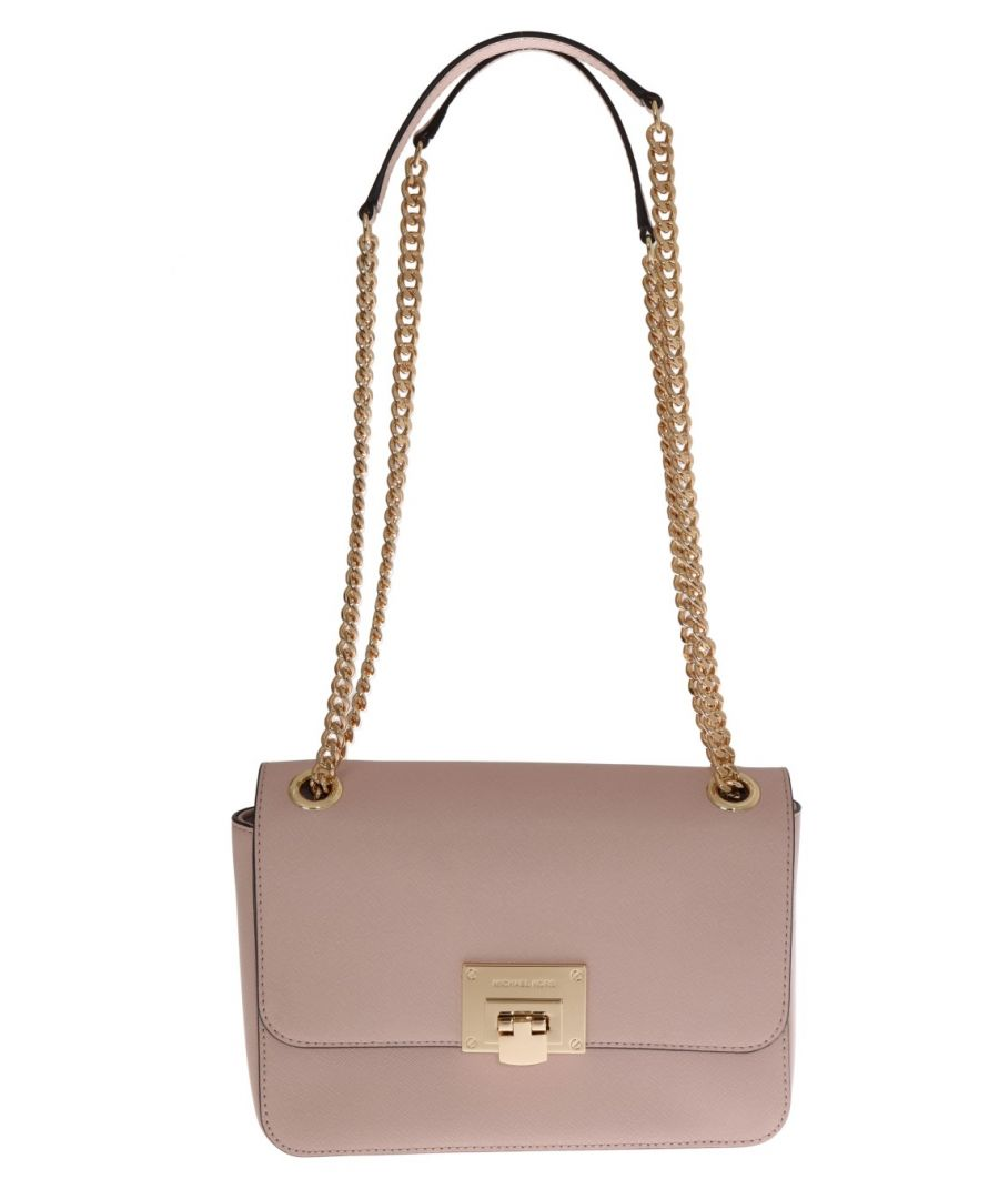 Image for Michael Kors Pink TINA Leather Shoulder Bag