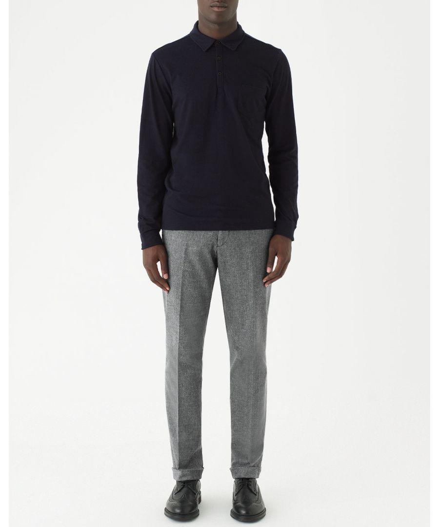 Image for Cotton Fil A Fil Slim Fit Trouser