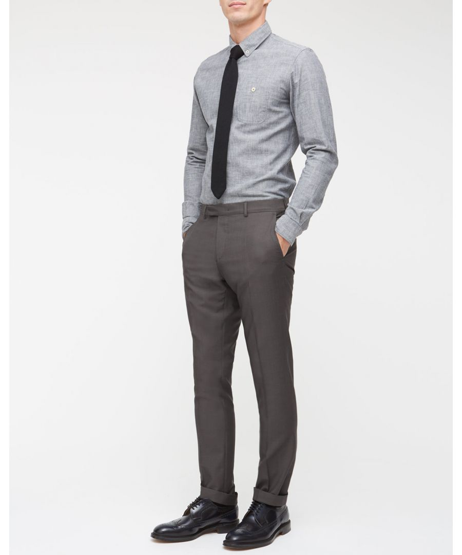 Image for Fine Stretch Wool Slim Trouser