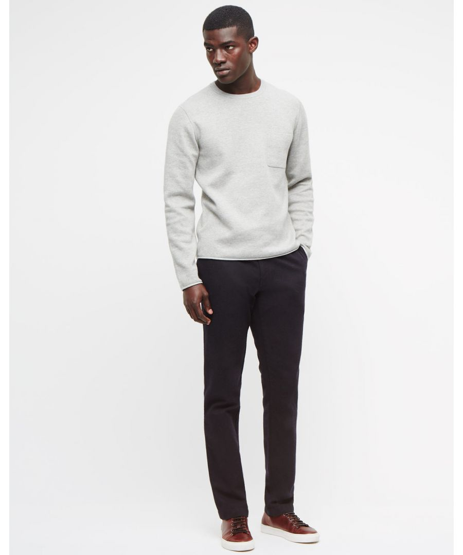 Image for Wool Cotton Twill Slim Trouser