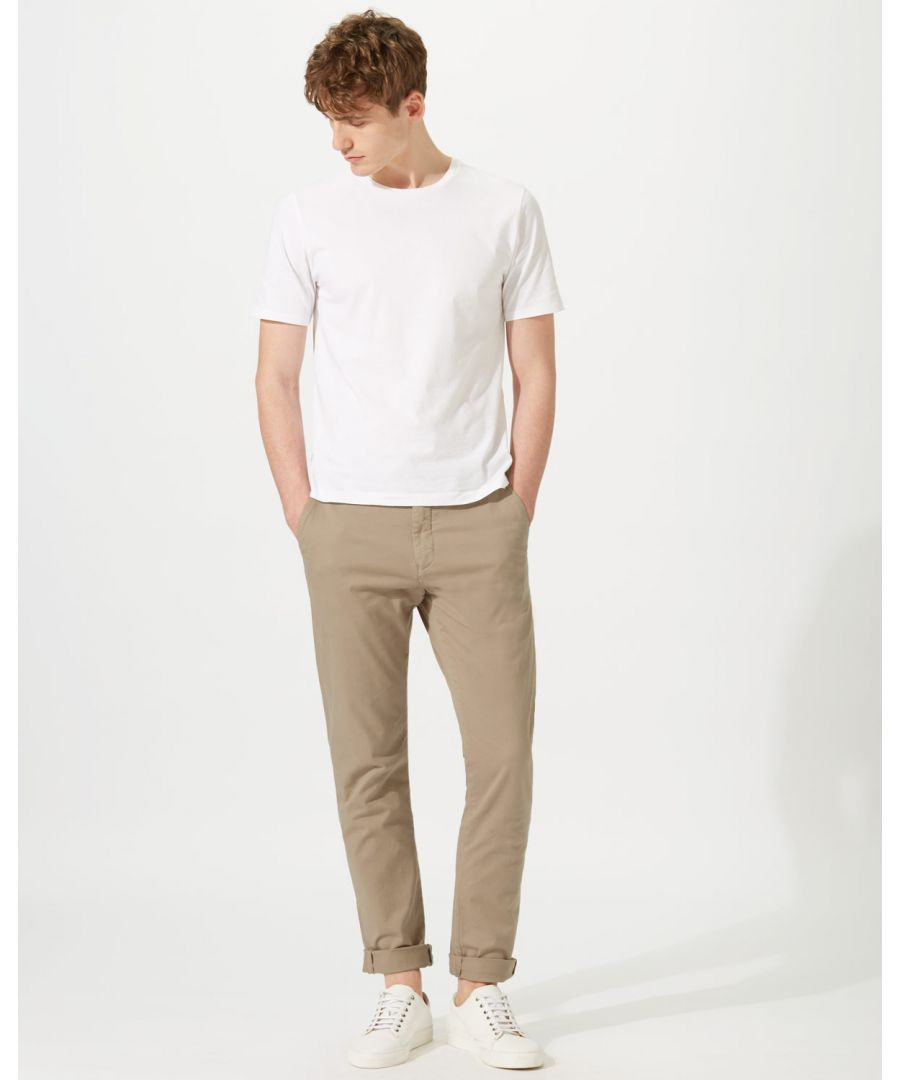 Image for Garment Dye Slim Fit Stretch Chino Trouser