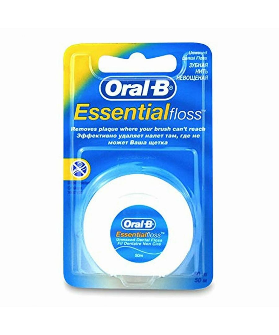 Image for Oral B Interdent Wire Essential Dental Floss Unwaxed 50m