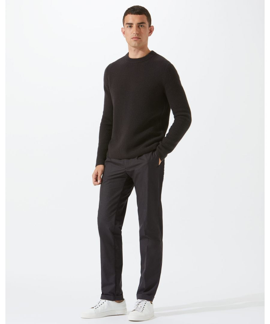 Image for Italian Wool Cotton Pleated Trouser