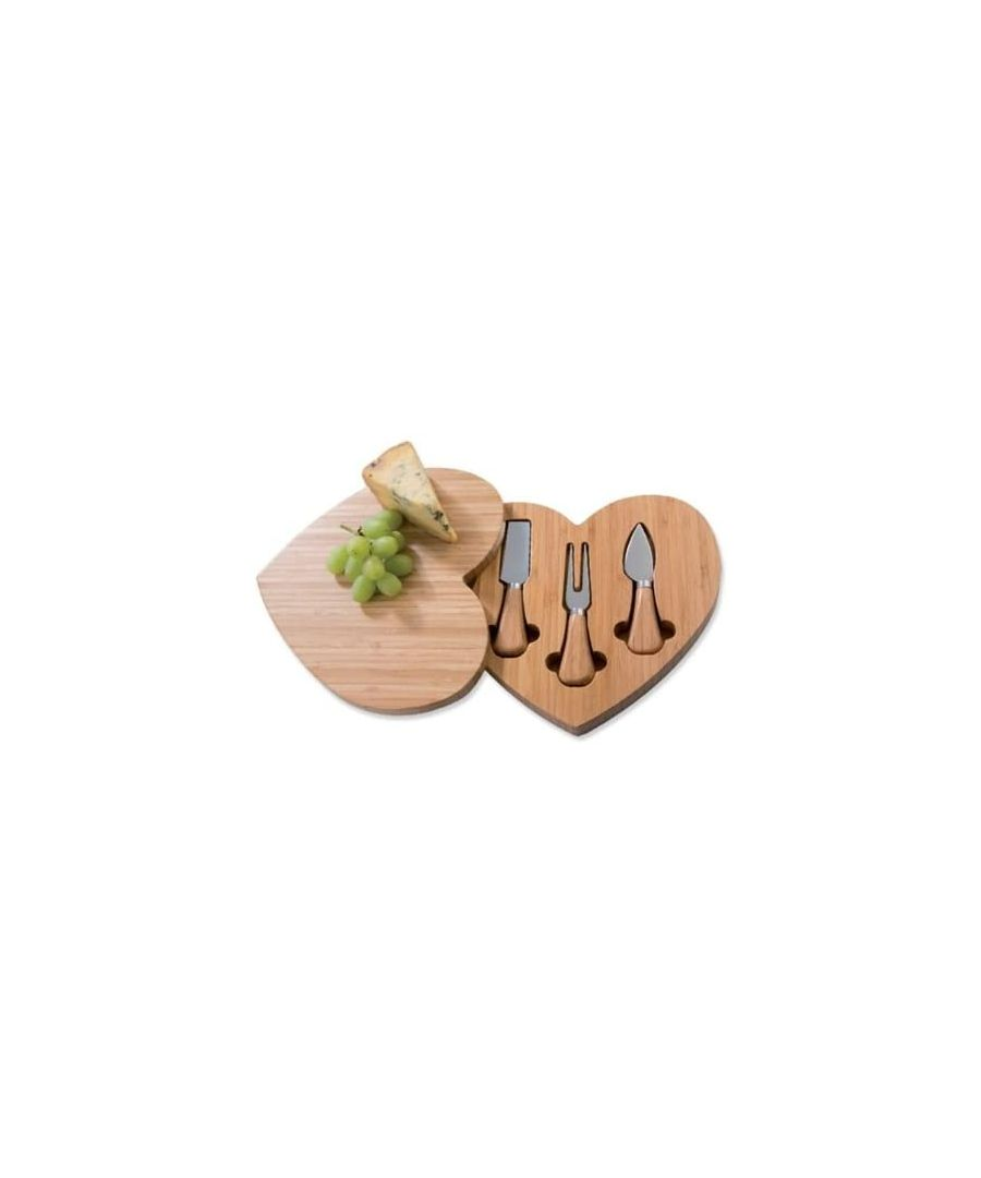 Image for Viners Heart Shaped Cheese Board with Cheese Knives