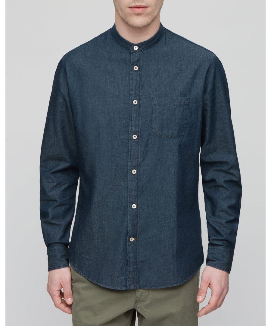 Image for Denim Slm Grandad Shirt